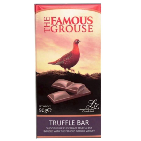 The Famous Grouse Whisky - Truffle Bar Milk Chocolate Lir 90g